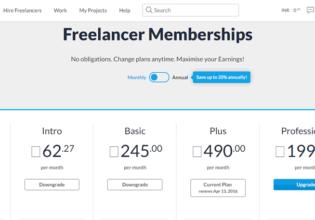 Downgrade Freelancer Membership