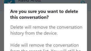 Skype chat history delete
