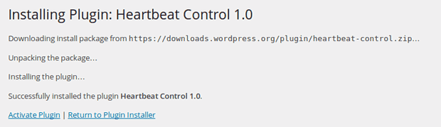Activate Heartbeat Control Plugin