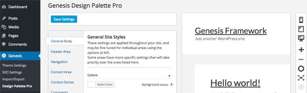 Genesis Design Pallete Pro