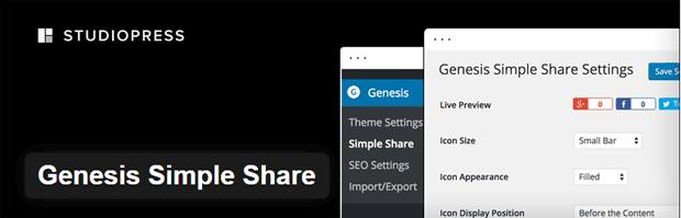 Genesis Simple Share plugin