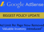 Adsense new policy update - Ad limit per page lifted