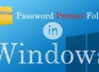 Password Protect folder in Windows