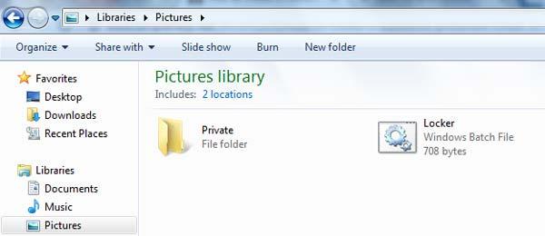 Private folder and Locker file