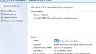 System information Windows