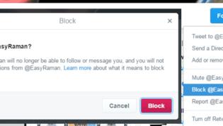 Twitter blocking and muting