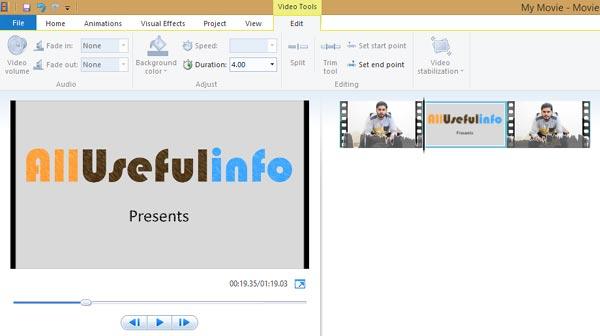Windows Movie Maker overlay