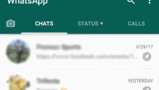 WhatsApp pinning feature