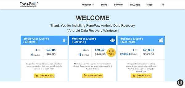 FonePaw Android Data Recovery pricing