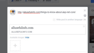 Facebook not fetching URL preview