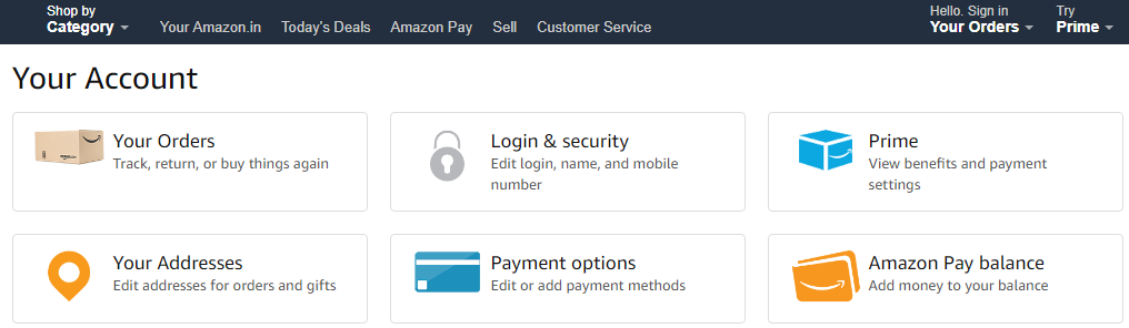 Amazon Payment Options