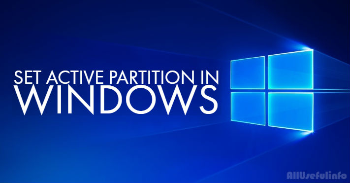Set active partition in Windows