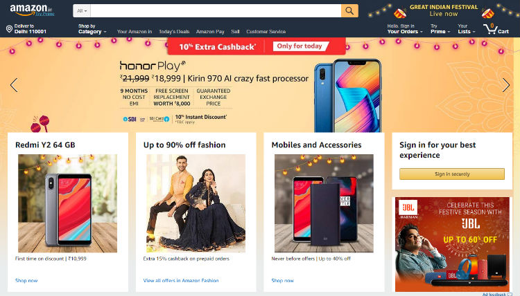 Amazon's Great Indian Festival