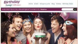 BirthdaySongsWithNames.Com Homepage