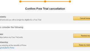 Cancel Amazon Prime free trial immediately