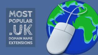 Popular .uk domain name extensions