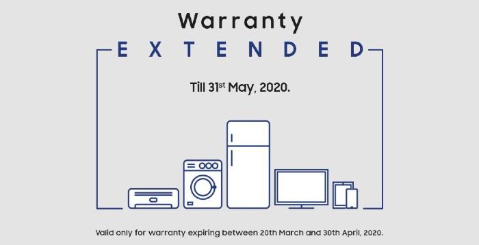 Warranty Extend till 31st May