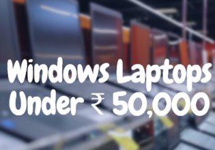 Windows Laptops under 50000 INR