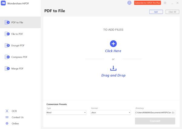 HiPDF Desktop Version