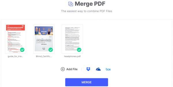Merge PDF online on HiPDF