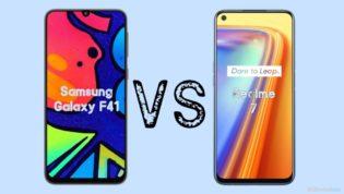 Samsung Galaxy F41 vs Realme 7