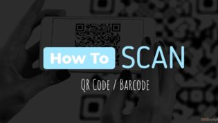 Scan QR code or Barcode on phone