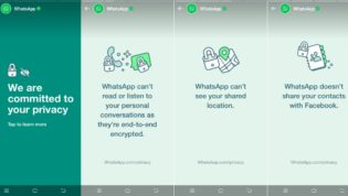 WhatsApp published stories about new policy update