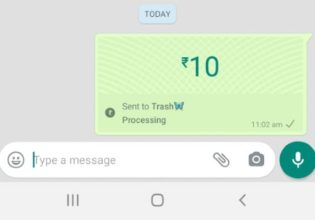 Send money from WhatsApp