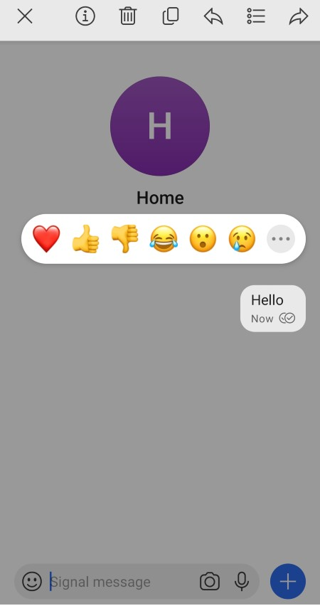 Message Reactions in Signal