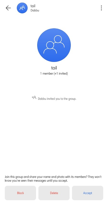 Permission required to add someone into a group on Signal