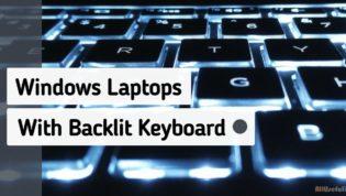Windows laptops with backlit keyboard