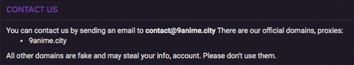 9Anime contact