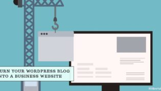 Turn WordPress blog into business website