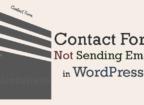 Contact form email send error WordPress