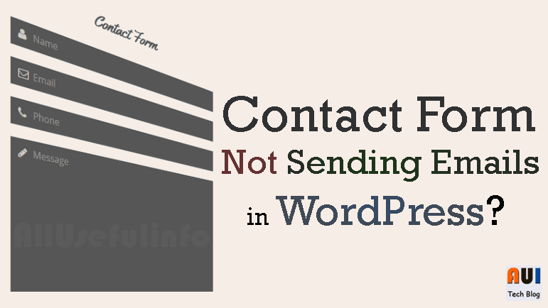 Contact form email send error WordPress