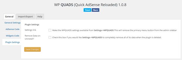 WP QUADS Settings